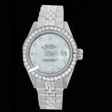 Rolex Ladies Stainless Steel, Diamond Dial & Diamond Bezel, Saph Crystal - REF#360M2K