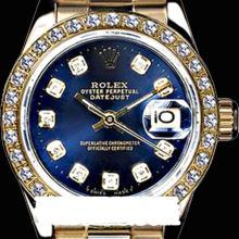 Rolex Men's 18K Yellow President, QuickSet, Diamond Dial & Diamond Bezel - REF#1243T6Y