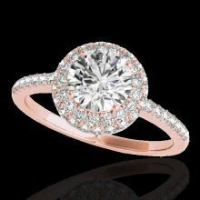 Genuine 2.15 CTW Certified G-I Genuine Diamond Bridal Solitaire Halo Ring Gold - 33680-REF#329W8K