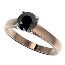 Genuine 1.25 CTW Fancy Black Genuine Diamond Bridal Solitaire Engagement Ring Gold - 33004-REF#36G2W