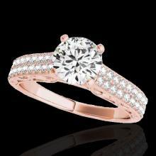 Genuine 1.91 CTW Certified G-I Genuine Diamond Solitaire Bridal Antique Ring Gold - 34703-REF#323G7W