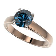 Genuine 1.46 CTW Certified Intense Blue Genuine Diamond Solitaire Engagement Ring Gold - 36549-REF#137A2N
