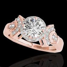 Genuine 1.56 CTW Certified G-I Genuine Diamond Bridal Solitaire Halo Ring Gold - 34329-REF#136F4M