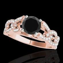 Genuine 1.50 CTW Certified Black Genuine Diamond Solitaire Bridal Ring Gold - 35218-REF#71K8T