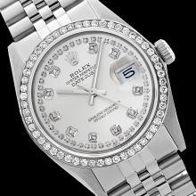 Rolex Ladies Stainless Steel, Diamond Dial & Diamond Bezel, Saph Crystal - REF-363K3R