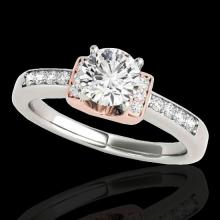 1.11 CTW H-SI/I Certified Diamond Solitaire Ring Two Tone Gold - REF-156W4H - 34829