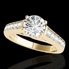 1.5 CTW H-SI/I Certified Diamond Solitaire Ring Gold - REF-176F4M - 34900