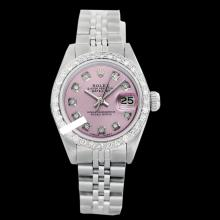 Rolex Ladies Stainless Steel, Diamond Dial & Diamond Bezel, Sapphire Crystal - REF-426K6T