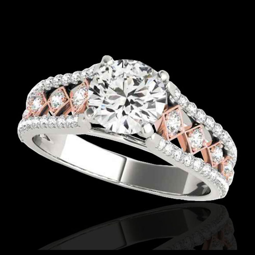 1.45 ctw H-SI/I Diamond Solitaire Ring 10K White & Rose Gold - REF-204A5V - SKU:35281