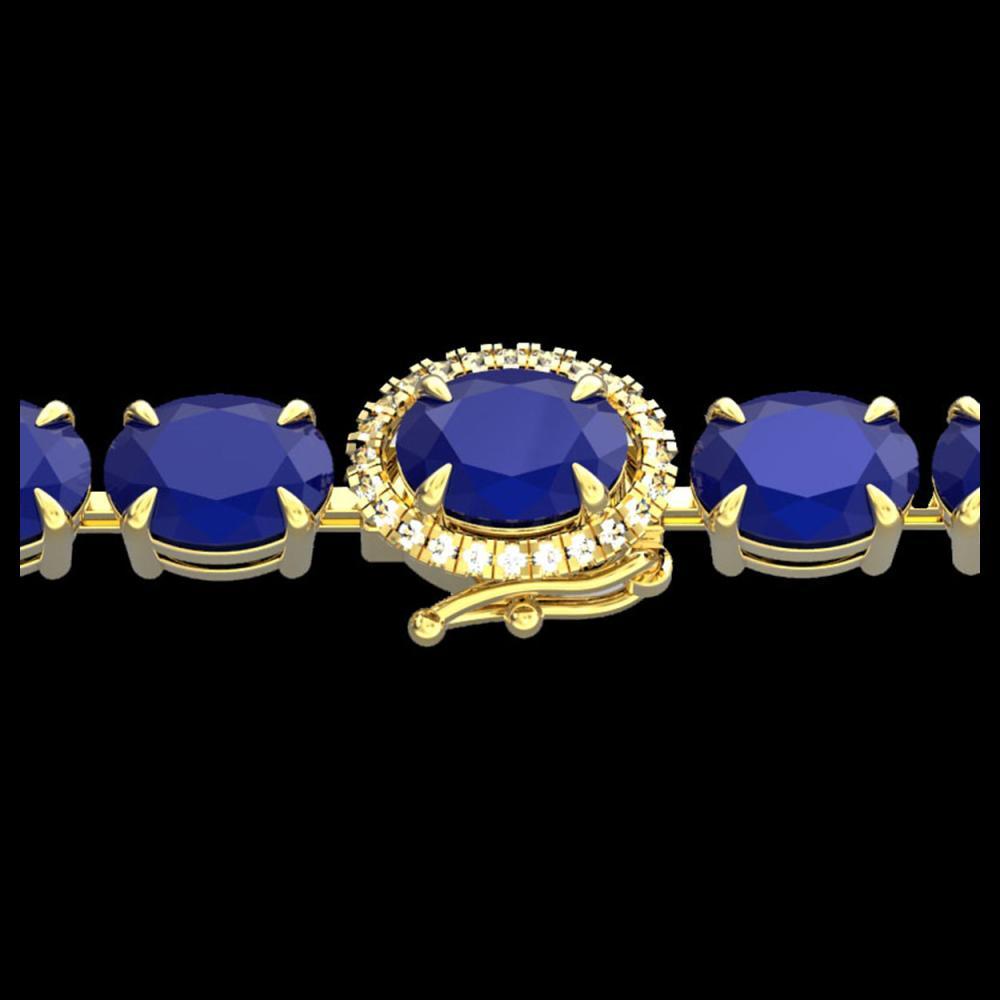 23.25 ctw Sapphire & VS/SI Diamond Bracelet 14K Yellow Gold - REF-149Y3X - SKU:40230