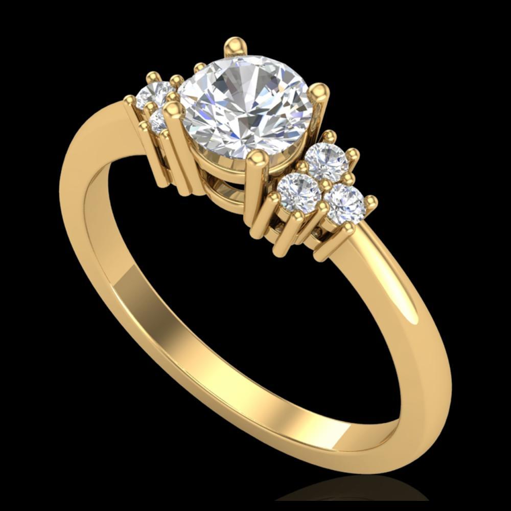 0.75 ctw VS/SI Diamond Ring 18K Yellow Gold - REF-131N3A - SKU:36934