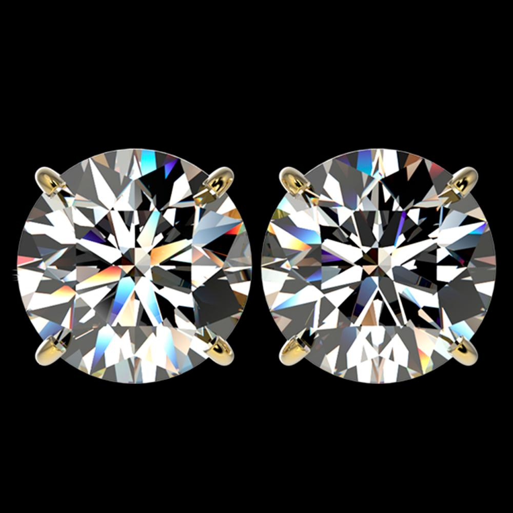 5 ctw H-SI/I Diamond Stud Earrings 10K Yellow Gold - REF-1740N2A - SKU:33144