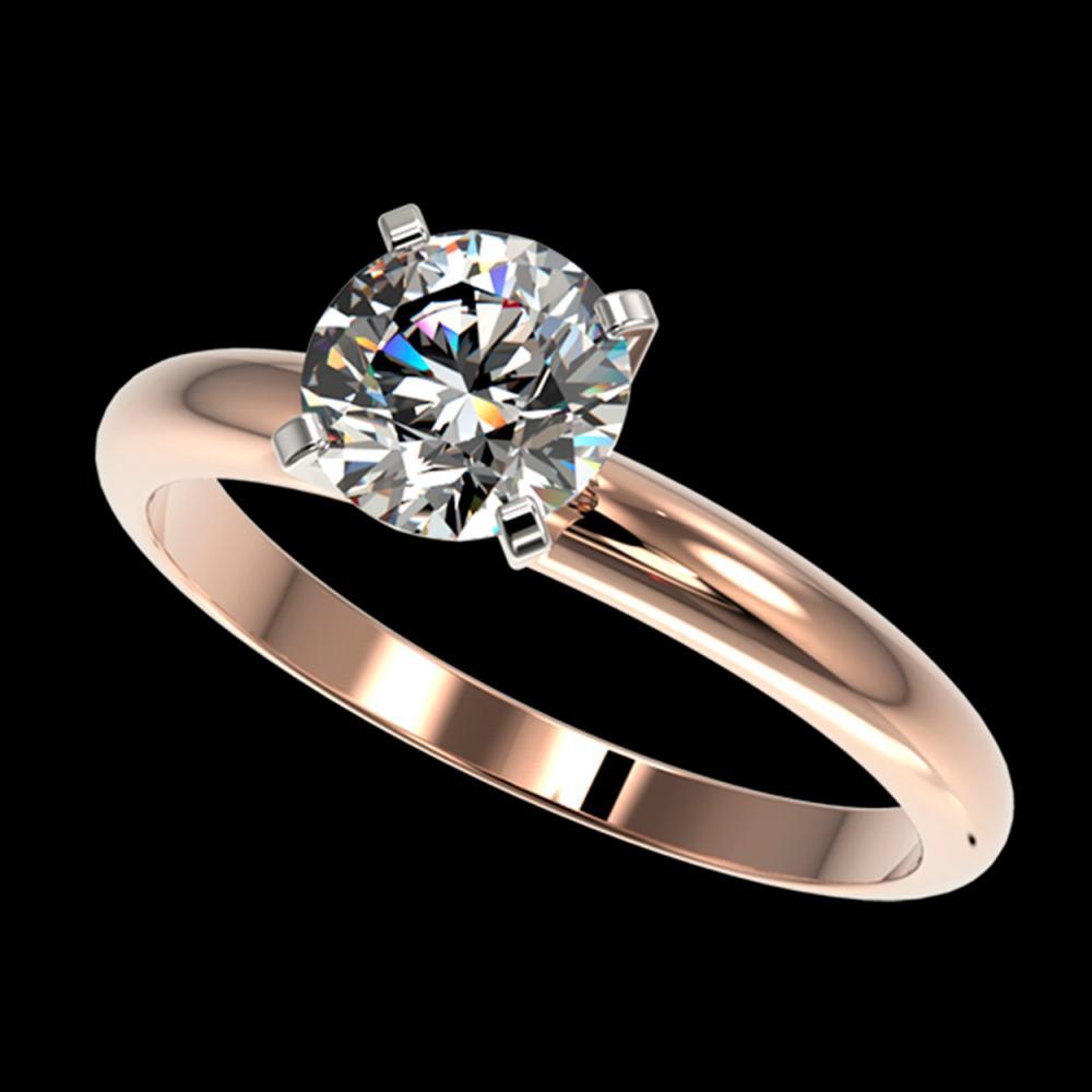 1.28 ctw H-SI/I Diamond Ring 10K Rose Gold - REF-240A2V - SKU:36427