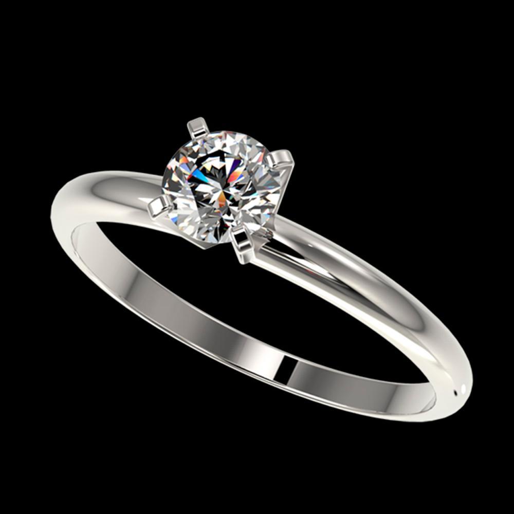 0.52 ctw H-SI/I Diamond Ring 10K White Gold - REF-58X5R - SKU:36369