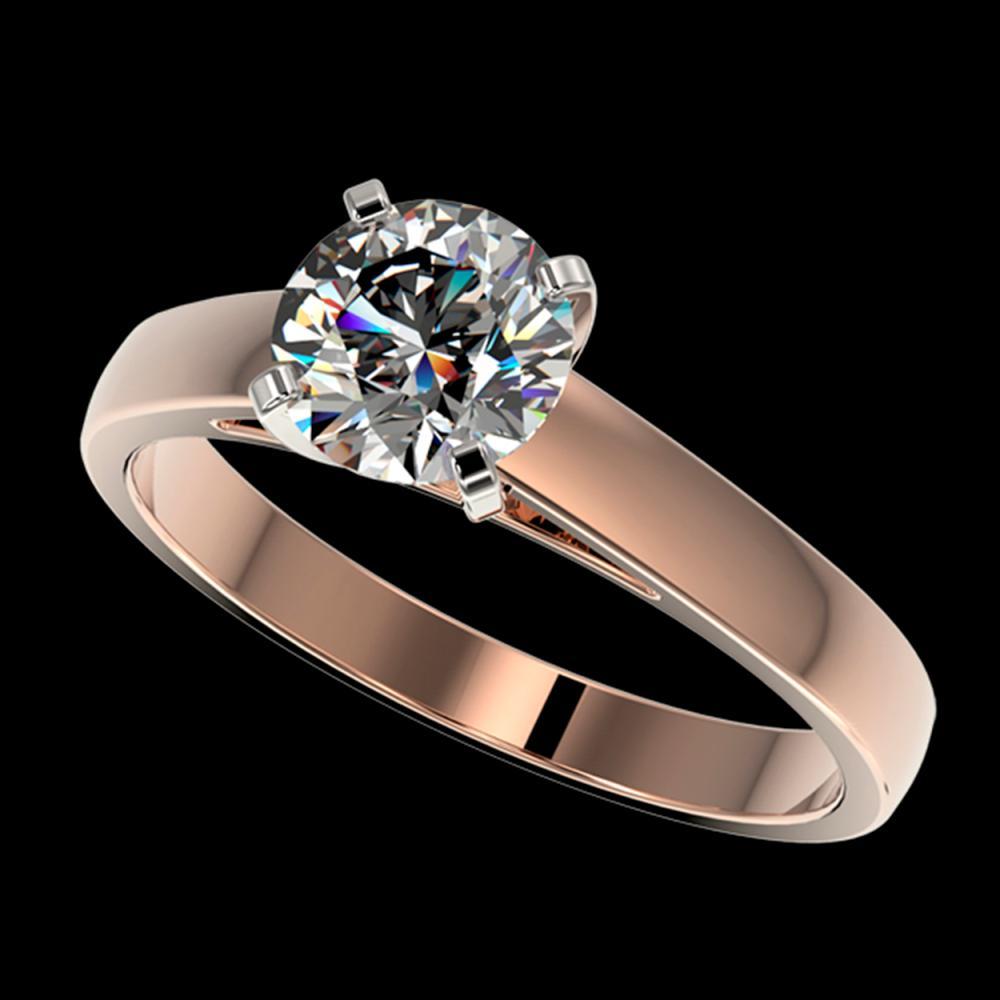 1.25 ctw H-SI/I Diamond Ring 10K Rose Gold - REF-255K2W - SKU:33001