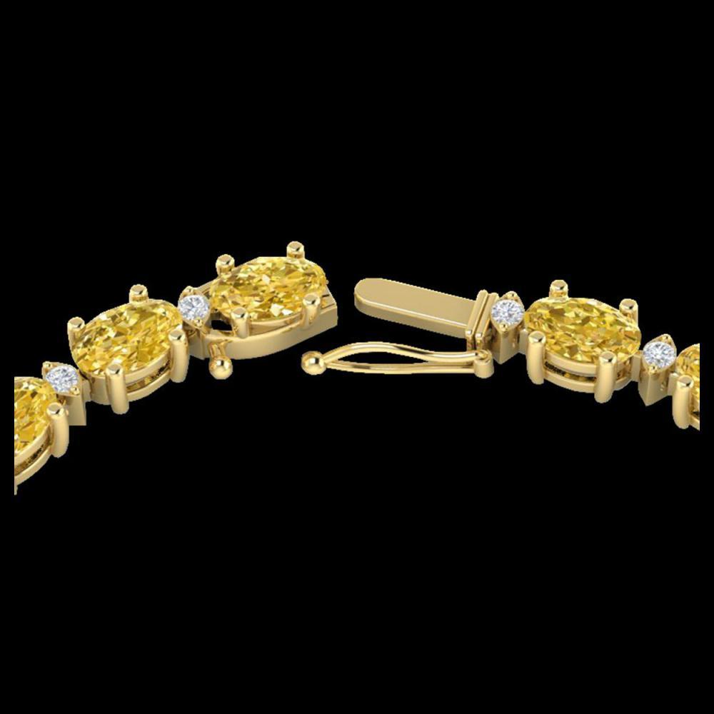 46.5 ctw Citrine & VS/SI Diamond Eternity Necklace 10K Yellow Gold - REF-226V2Y - SKU:29421