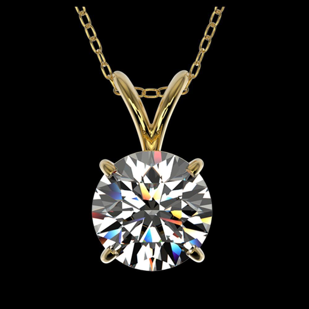 1.30 ctw H-SI/I Diamond Necklace 10K Yellow Gold - REF-270Y2X - SKU:36784