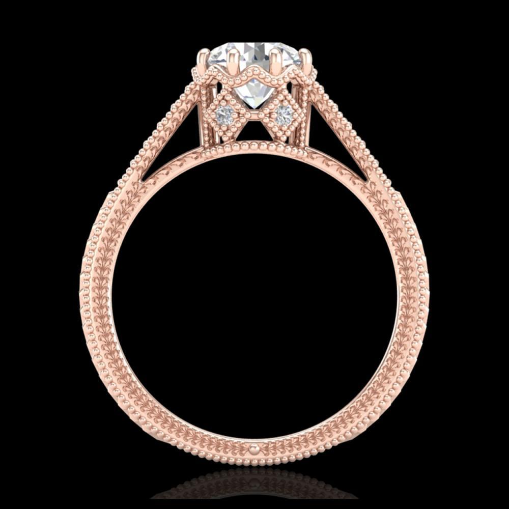 1.25 ctw VS/SI Diamond Solitaire Art Deco Ring 18K Rose Gold - REF-330A2V - SKU:36906