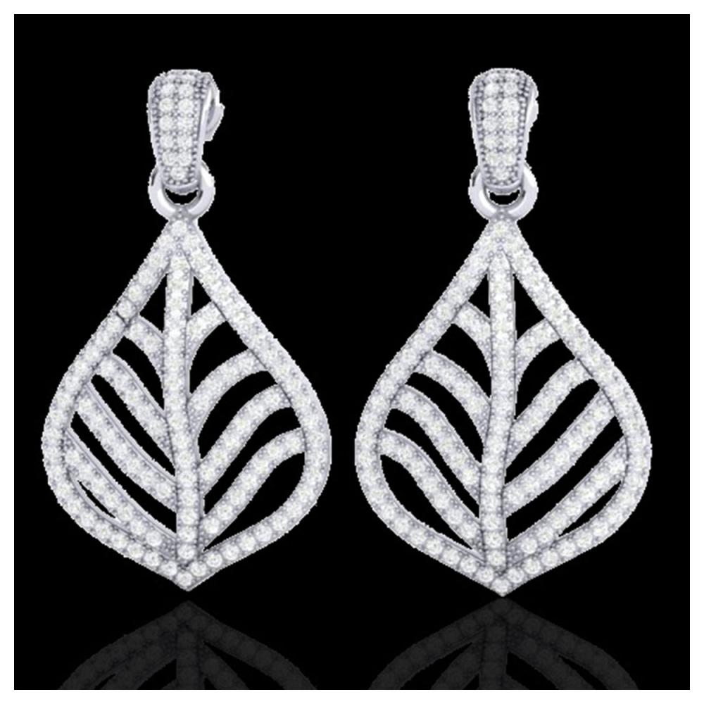 2.50 ctw VS/SI Diamond Earrings 18K White Gold - REF-236Y4X - SKU:21151