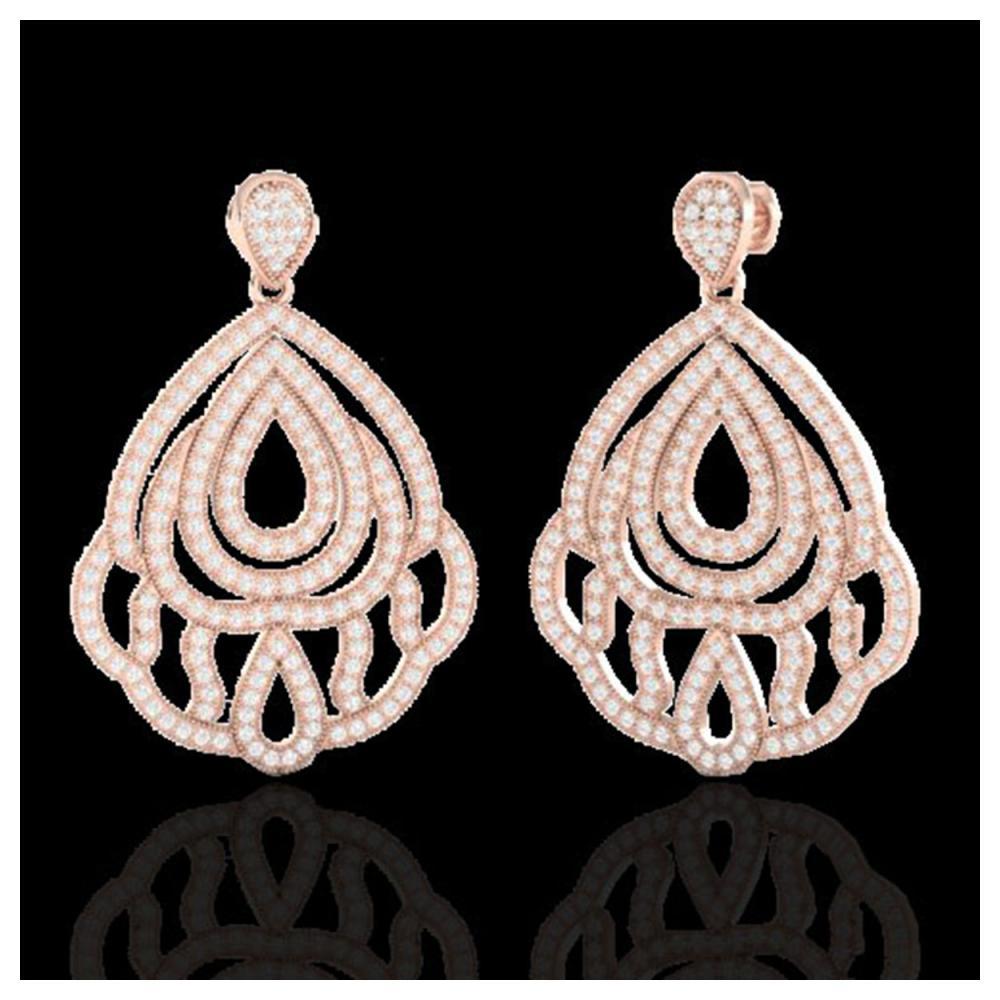 3 ctw VS/SI Diamond Earrings 14K Rose Gold - REF-256M9F - SKU:21146