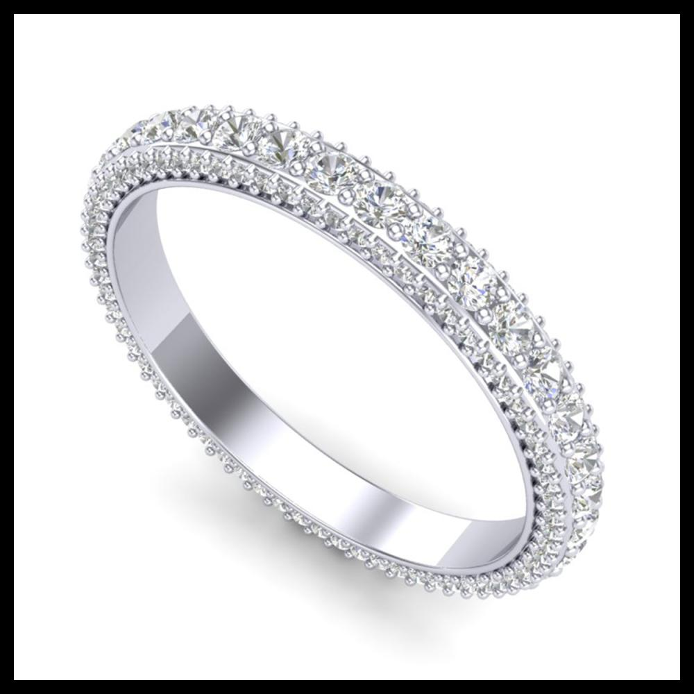 2.25 ctw Diamond Art Deco Eternity Men's Band 18K White Gold - REF-178A2V - SKU:37208