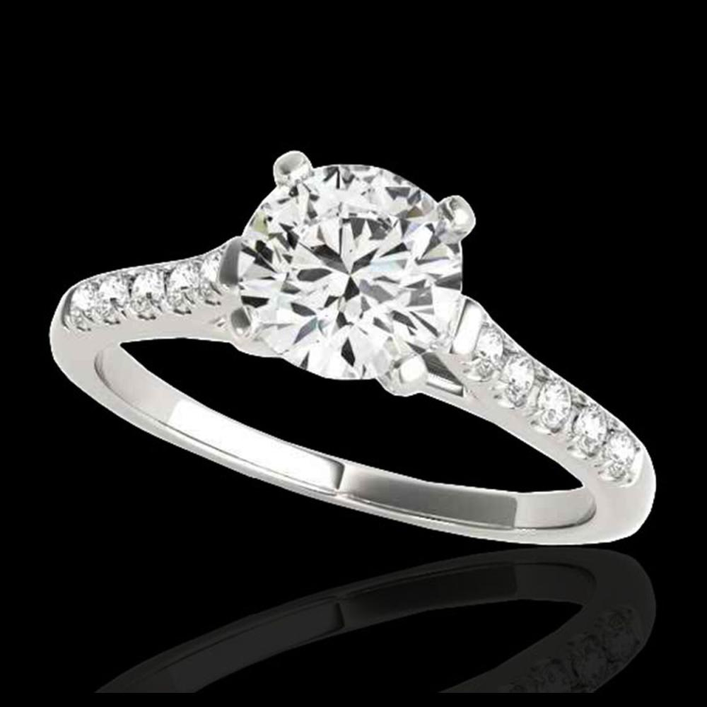 1.20 ctw H-SI/I Diamond Solitaire Ring 10K White Gold - REF-190F9N - SKU:34970