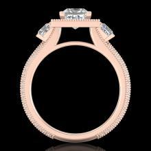 2.5 CTW Princess VS/SI Diamond Micro Pave 3 Stone Ring 18K Gold - 37197-REF-527X3H