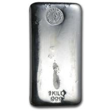 One piece 1 kilo 0.999 Fine Silver Bar Perth Mint