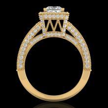 3.5 CTW Princess VS/SI Diamond Solitaire Micro Pave Ring 18K Gold - 37168-REF-581Z8K