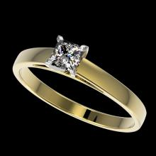 0.50 CTW Certified VS/SI Quality Princess Diamond Solitaire Ring Gold - 32967-REF-77N6Y