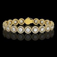 13.42 CTW Diamond Designer Bracelet 18K Yellow Gold - REF-2174F2N - 42583