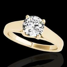1.5 CTW G-Si Certified Diamond Bridal Solitaire Ring Gold - 35536-REF-332R4N