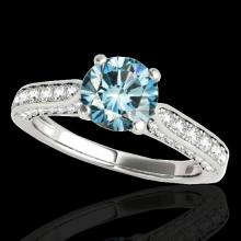 1.6 CTW Si Certified Fancy Blue Diamond Solitaire Bridal Ring Gold - 34921-REF-180K2W