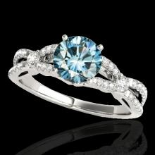 1.35 CTW Si Certified Fancy Blue Diamond Solitaire Bridal Ring Gold - 35228-REF-167R3N