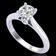 0.83 CTW VS/SI Diamond Solitaire Art Deco Ring 18K Gold - 37283-REF-200W2M
