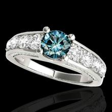 2.55 CTW Si Certified Fancy Blue Diamond Bridal Solitaire Ring Gold - 35512-REF-254M5R