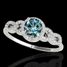 1.33 CTW Si Certified Fancy Blue Diamond Solitaire Bridal Ring Gold - 35318-REF-161F8X