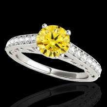 1.65 CTW Certified Si Fancy Intense Yellow Diamond Solitaire Ring Gold - 35030-REF-203V6F