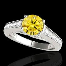 1.5 CTW Certified Si Fancy Intense Yellow Diamond Solitaire Ring Gold - 34905-REF-176Z4K