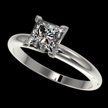 1.25 CTW Certified VS/SI Quality Princess Diamond Solitaire Ring Gold - 32916-REF-372Z3K
