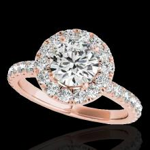 1.75 CTW G-Si Certified Diamond Bridal Solitaire Halo Ring Gold - 33437-REF-178X2H