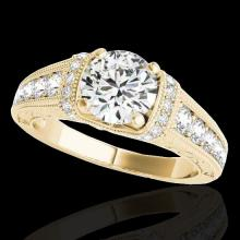 1.75 CTW G-Si Certified Diamond Solitaire Bridal Antique Ring Gold - 34785-REF-218X2H