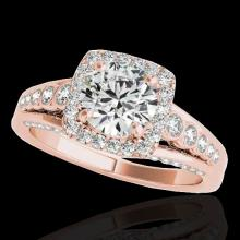 1.75 CTW G-Si Certified Diamond Bridal Solitaire Halo Ring Gold - 34311-REF-194N5Y