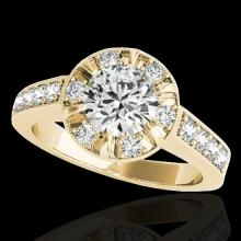 2 2 CTW G-Si Certified Diamond Bridal Solitaire Halo Ring Gold - 34488-REF-236V4F