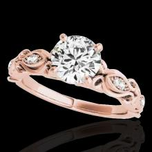 1.1 CTW G-Si Certified Diamond Solitaire Bridal Antique Ring Gold - 34631-REF-156R4N