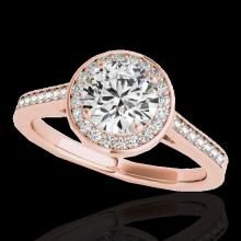 1.33 CTW G-Si Certified Diamond Bridal Solitaire Halo Ring Gold - 33509-REF-174K5W