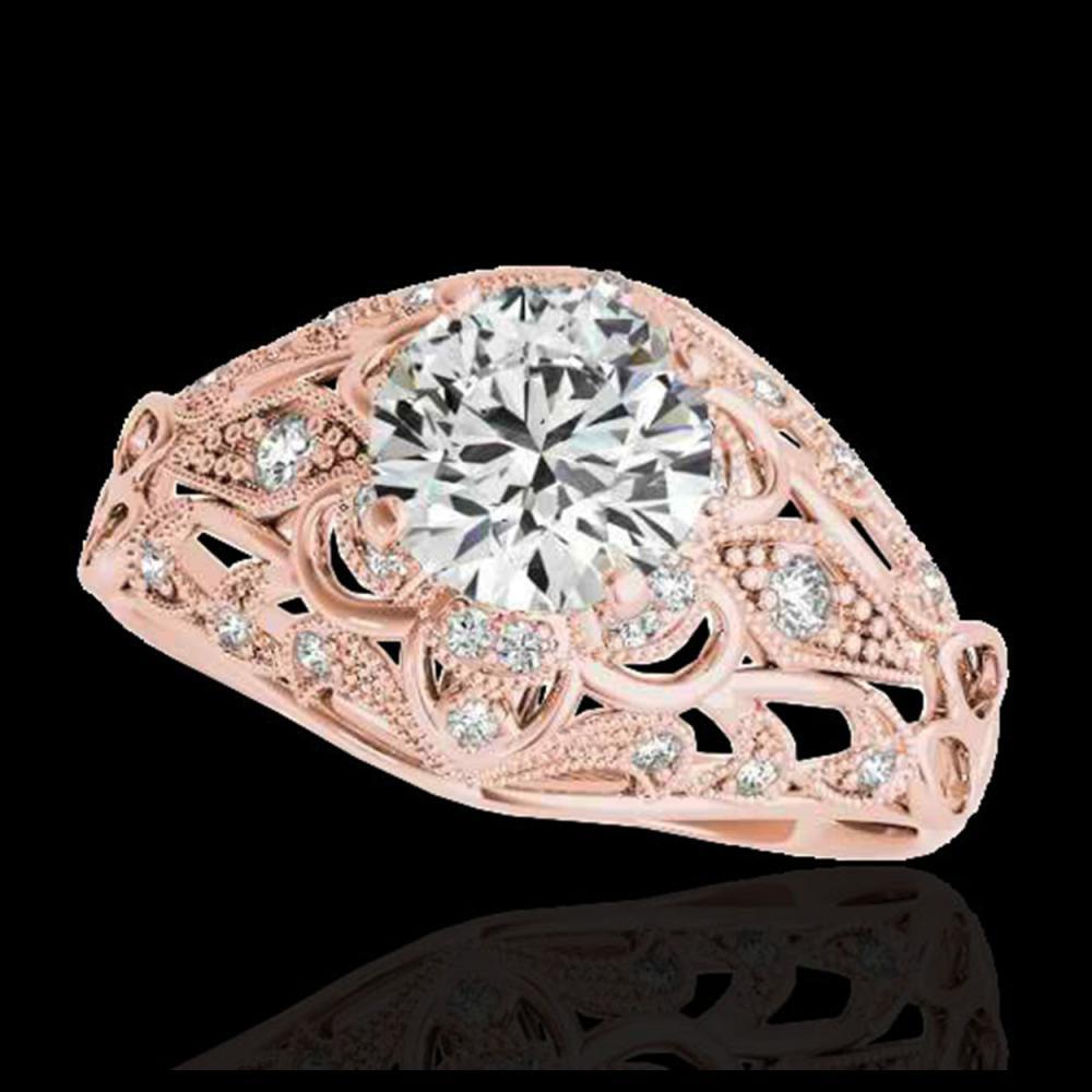 1.36 ctw H-SI/I Diamond Solitaire Ring 10K Rose Gold - REF-129K5W - SKU:34712