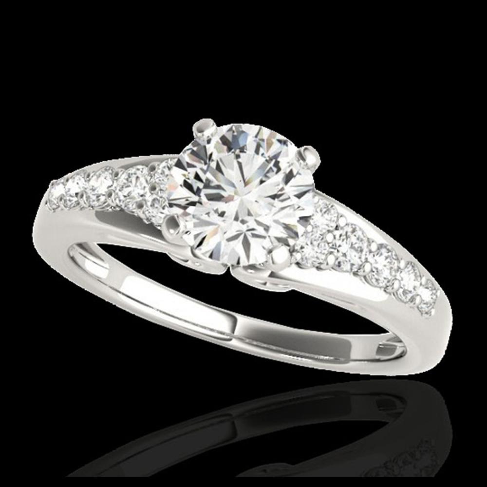 1.40 ctw H-SI/I Diamond Solitaire Ring 10K White Gold - REF-190F9N - SKU:34996