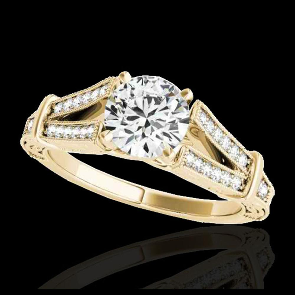 1.25 ctw H-SI/I Diamond Solitaire Ring 10K Yellow Gold - REF-160X9R - SKU:34659