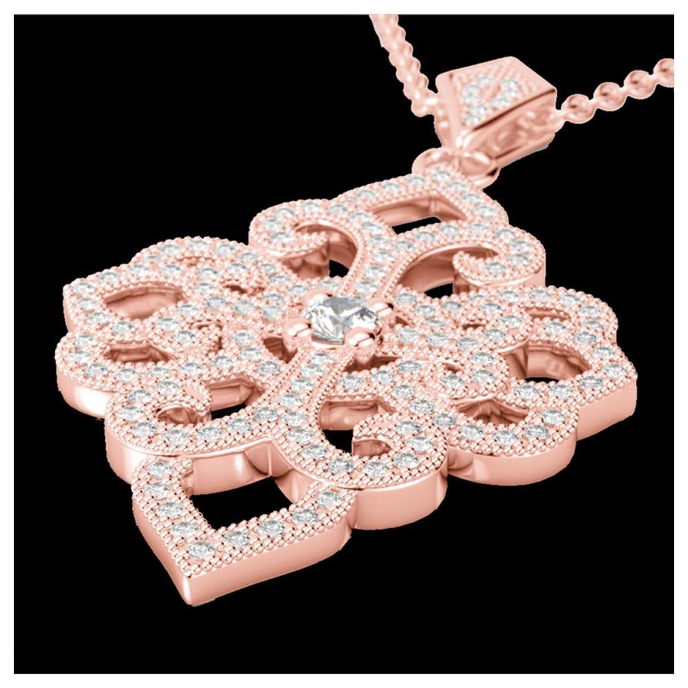 1.40 ctw VS/SI Diamond Necklace 14K Rose Gold - REF-130A9V - SKU:22556